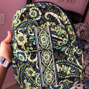 Vera Bradley Blue Green paisley small backpack